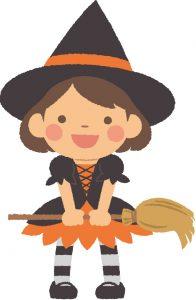 ハロウィンの子供_魔女